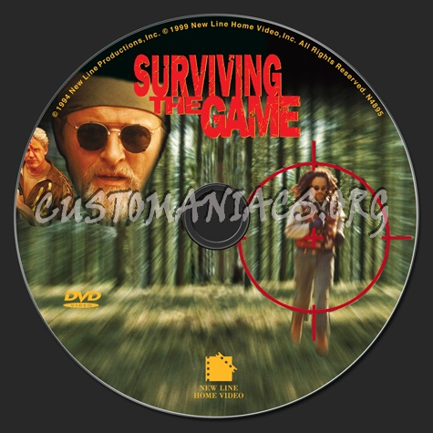 Surviving the Game dvd label