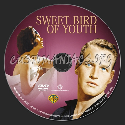 Sweet Bird of Youth dvd label
