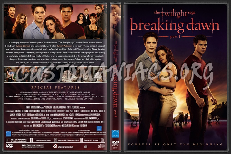 The Twilight Saga - Breaking Dawn Part 1 dvd cover