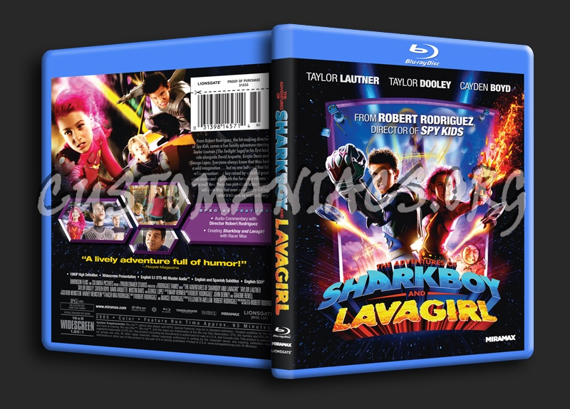 The Adventures of Sharkboy and Lavagirl blu-ray cover