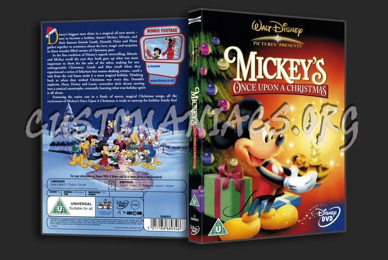 mickeys once upon a christmas dvd cover - A Walt Disney Christmas Dvd