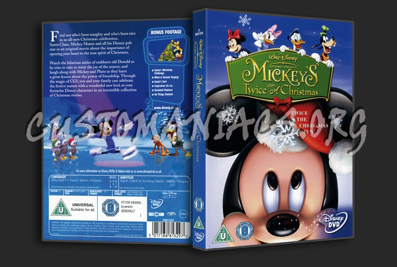 mickeys twice upon a christmas dvd cover - Mickeys Twice Upon A Christmas