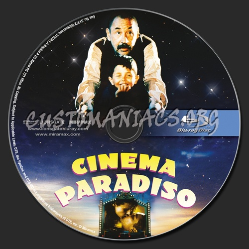 Cinema Paradiso blu-ray label