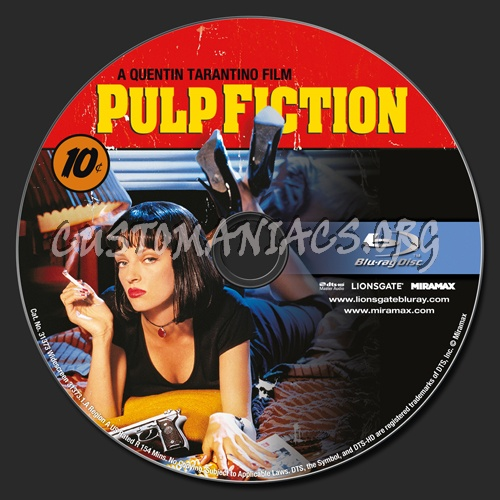 Pulp Fiction blu-ray label