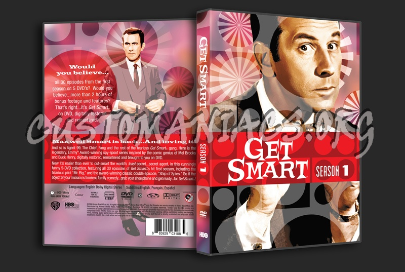 Get Smart Season 1 dvd cover - DVD Covers & Labels by