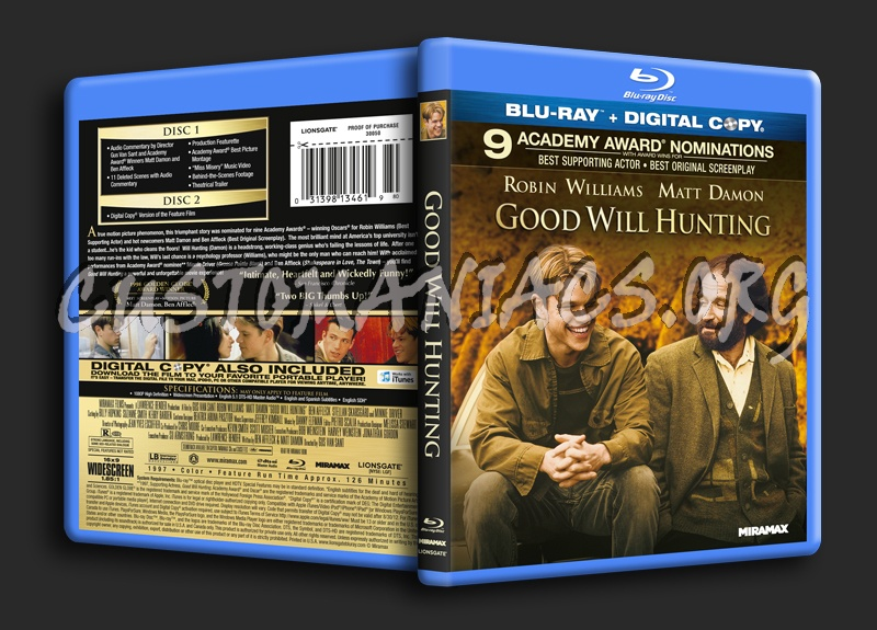 Good Will Hunting blu-ray cover