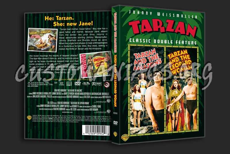 Tarzan and the Amazons / Tarzan and the Leopard Woman dvd cover