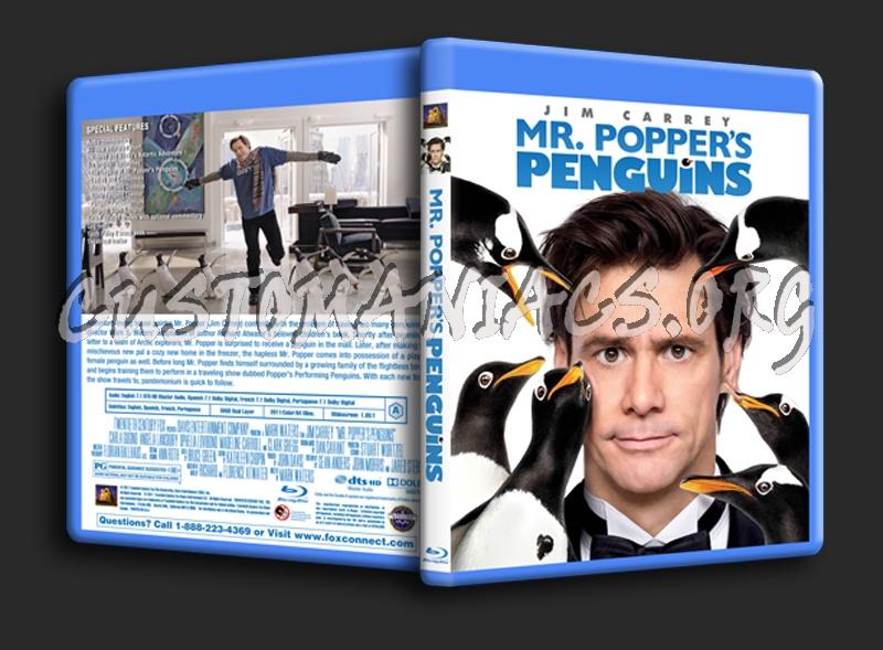 Mr Popper's Penguins blu-ray cover