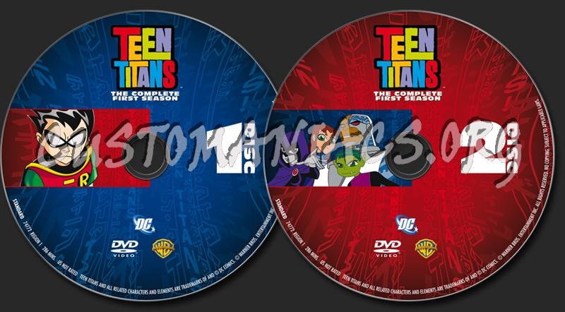 Teen Titans Season 1 dvd label
