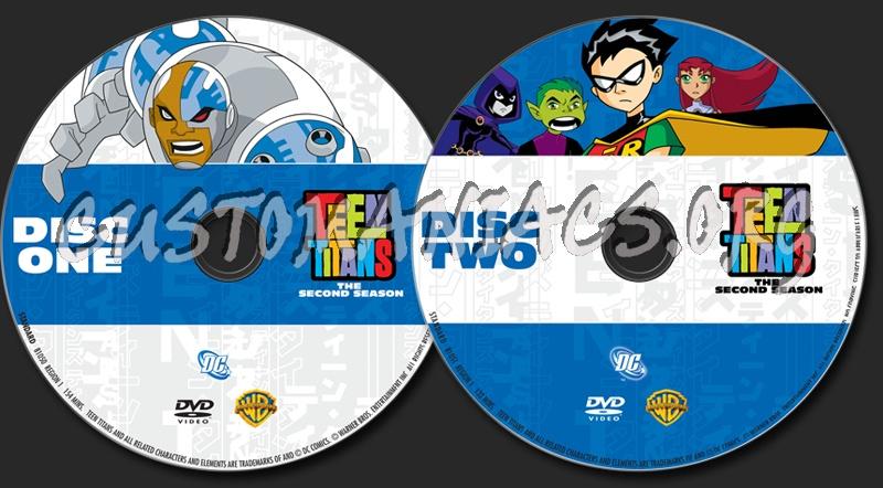 Teen Titans Season 2 dvd label