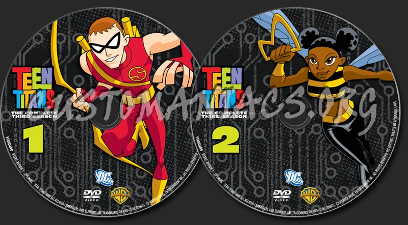 Teen Titans Season 3 dvd label