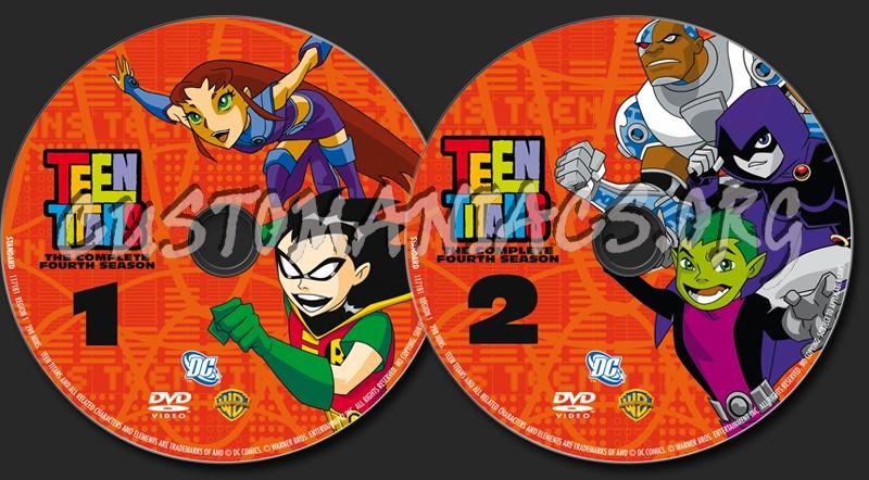 Teen Titans Season 4 dvd label
