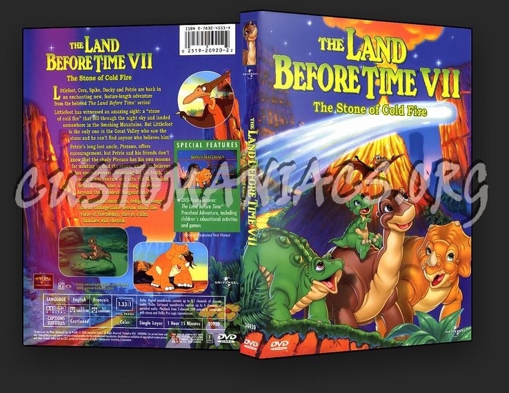 The Land Before Time VII The Stone Of Cold Fire dvd cover