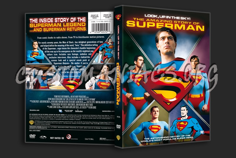 The Amazing Story of Superman dvd cover