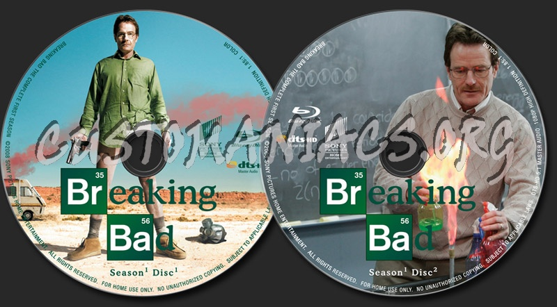 Breaking Bad Season 1 blu-ray label