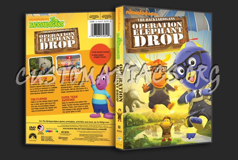The Backyardigans  Operation Elephant Drop dvd cover