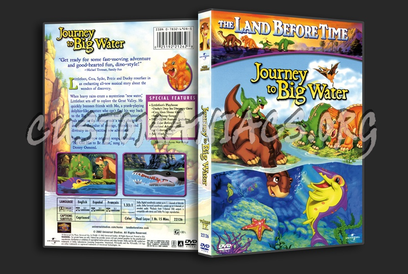 The Land Before Time  Journey to Big Water dvd cover