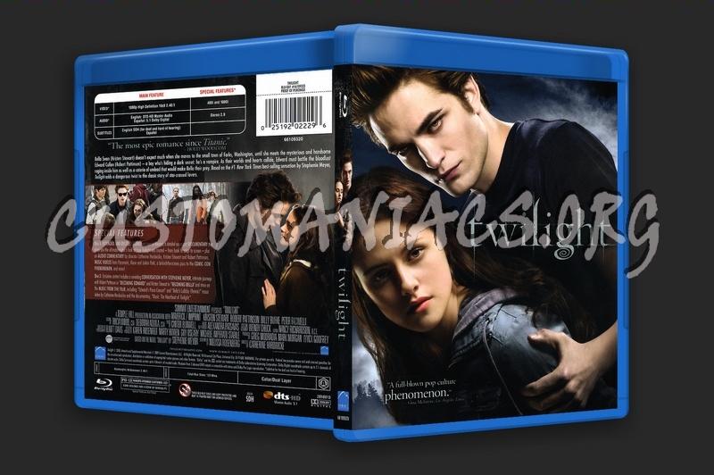 The Twilight Saga: Twilight blu-ray cover
