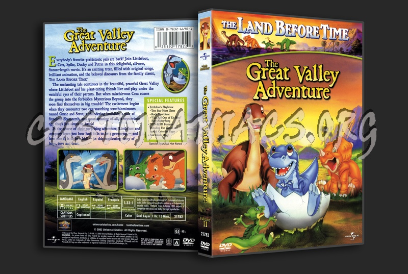The Land Before Time  The Great Valley Adventure dvd cover