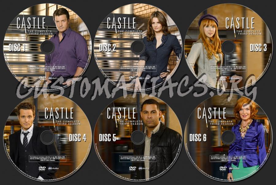 Castle Season 3 Dvd Label