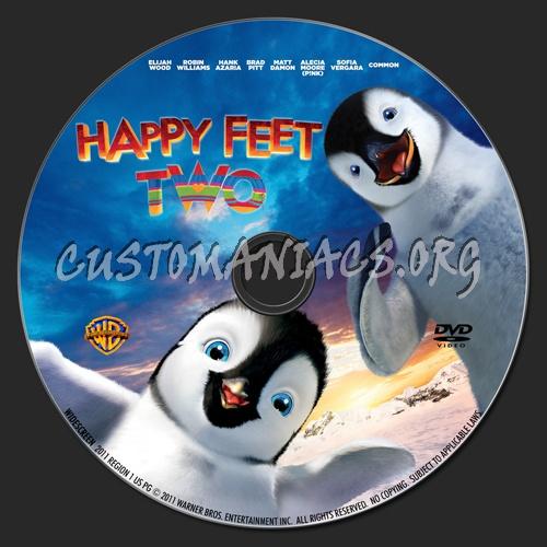 Happy Feet 2 dvd label