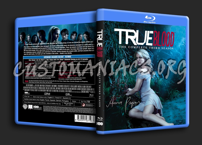 True Blood Season 3 blu-ray cover