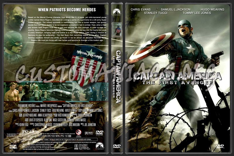 Captain America The First Avenger dvd cover