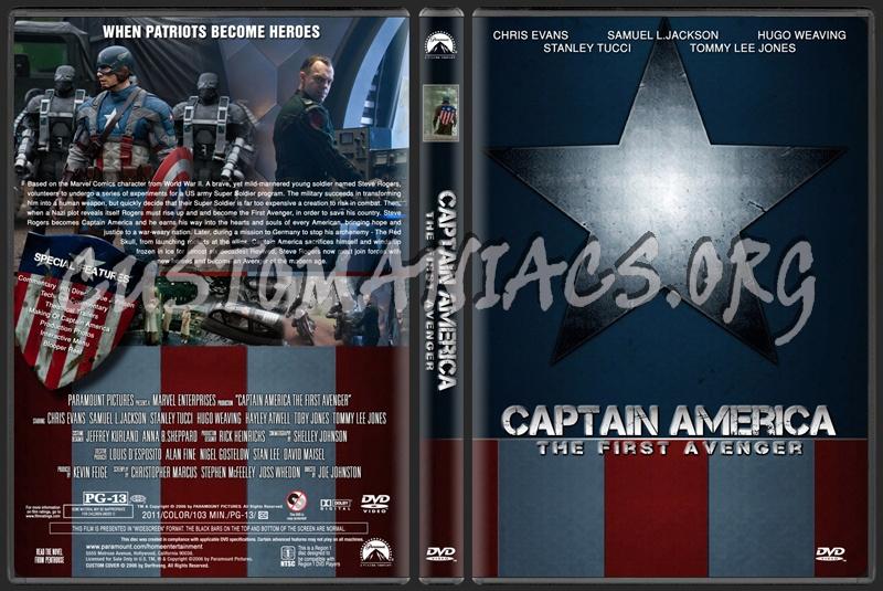 Captain America The First Avenger dvd cover
