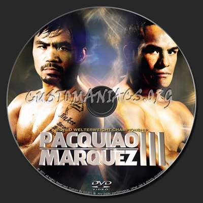 Pacquiao vs Marquez 3 dvd label