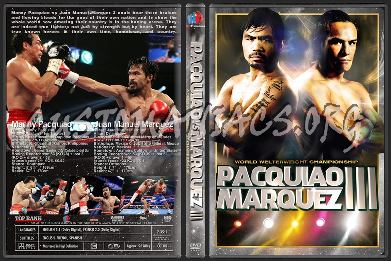 Pacquiao vs Marquez 3 dvd cover