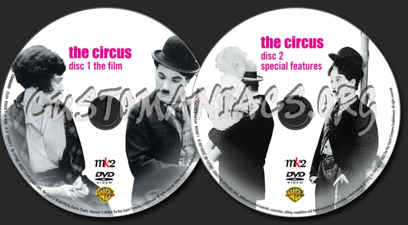 The Chaplin Collection: The Circus dvd label