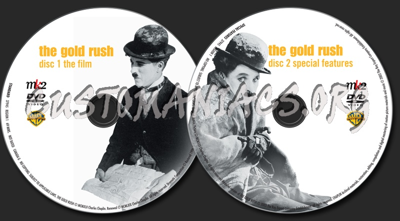 The Chaplin Collection: The Gold Rush dvd label