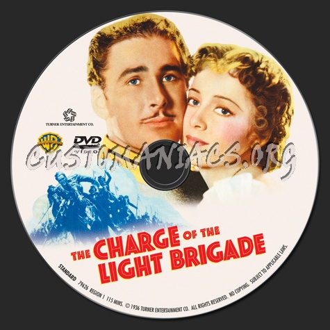 The Charge Of The Light Brigade Dvd Label Dvd Covers