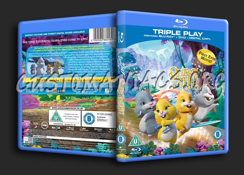 zhuzhu pets quest for zhu blu ray cover dvd covers labels by customaniacs id 152228 free. Black Bedroom Furniture Sets. Home Design Ideas