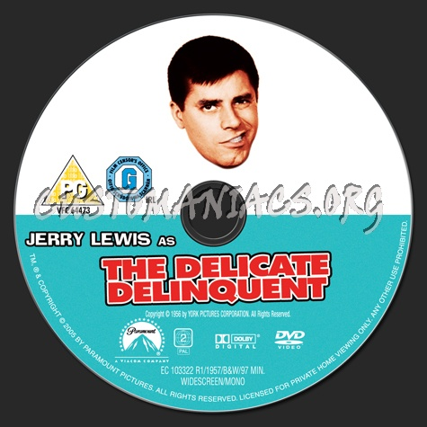 The Delicate Delinquent dvd label