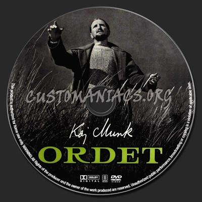 Ordet dvd label