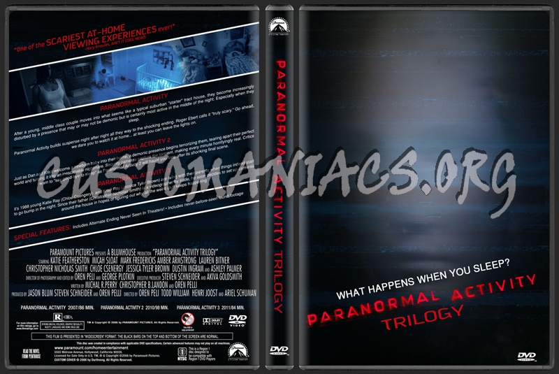 Paranormal Activity Trilogy dvd cover