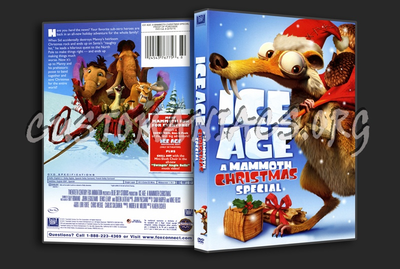 Ice Age A Mammoth Christmas.Ice Age A Mammoth Christmas Dvd Cover Dvd Covers Labels
