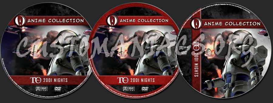 Anime Collection TO 2001 Nights dvd label