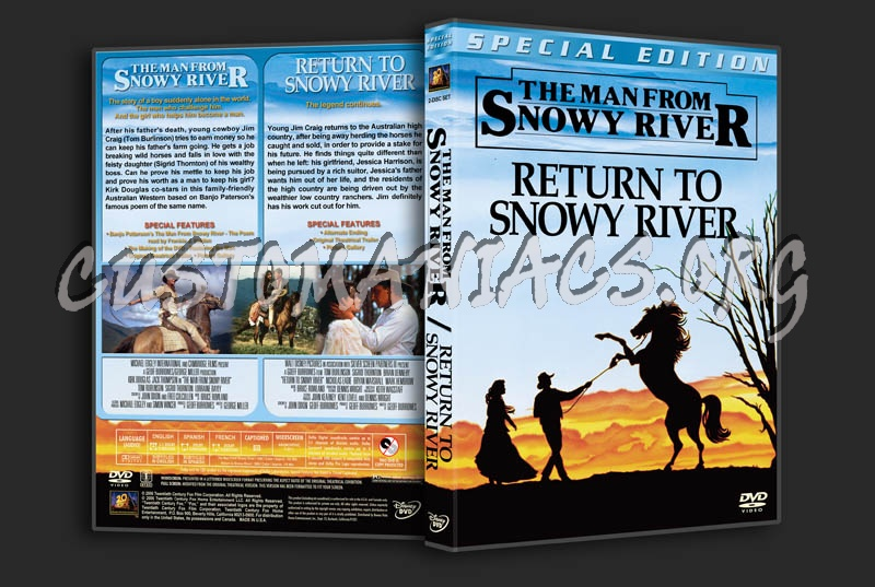 The Man from Snowy River / Return to Snowy River Double dvd cover
