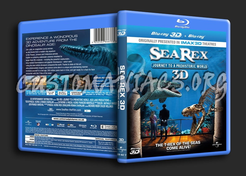 Sea Rex 3D Journey to a Prehistoric World blu-ray cover