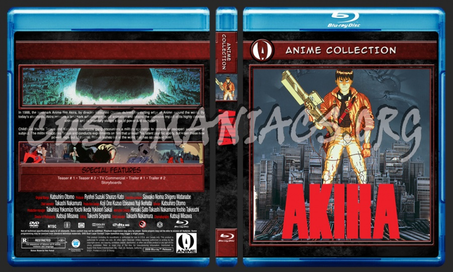 Anime Collection Akira blu-ray cover