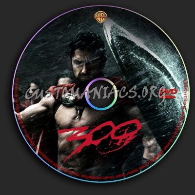 300 dvd label