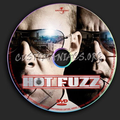 Hot Fuzz dvd label