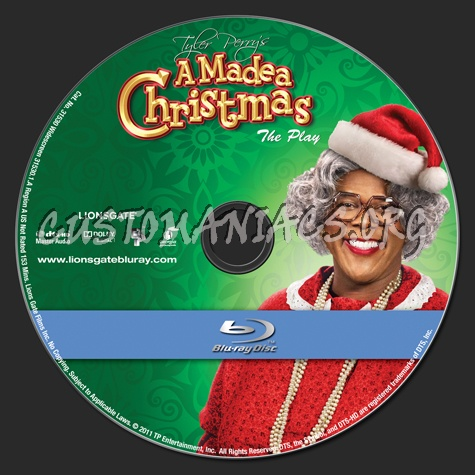 tyler perry a madea christmas blu ray label