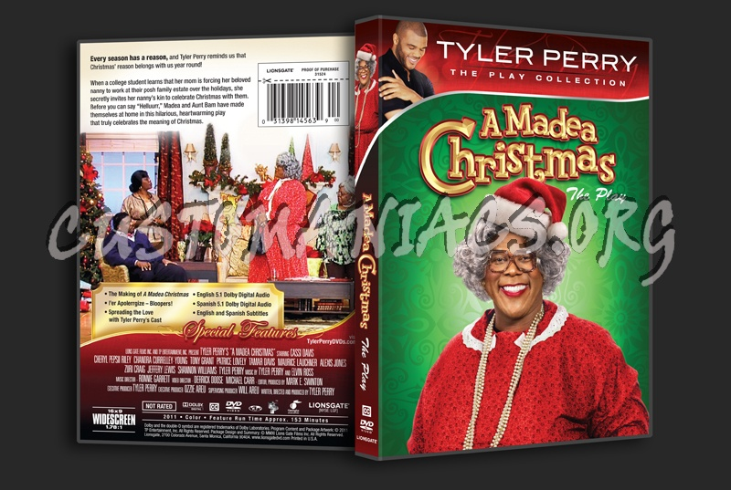 Madea Christmas Full Play.Tyler Perry A Madea Christmas Dvd Cover Dvd Covers