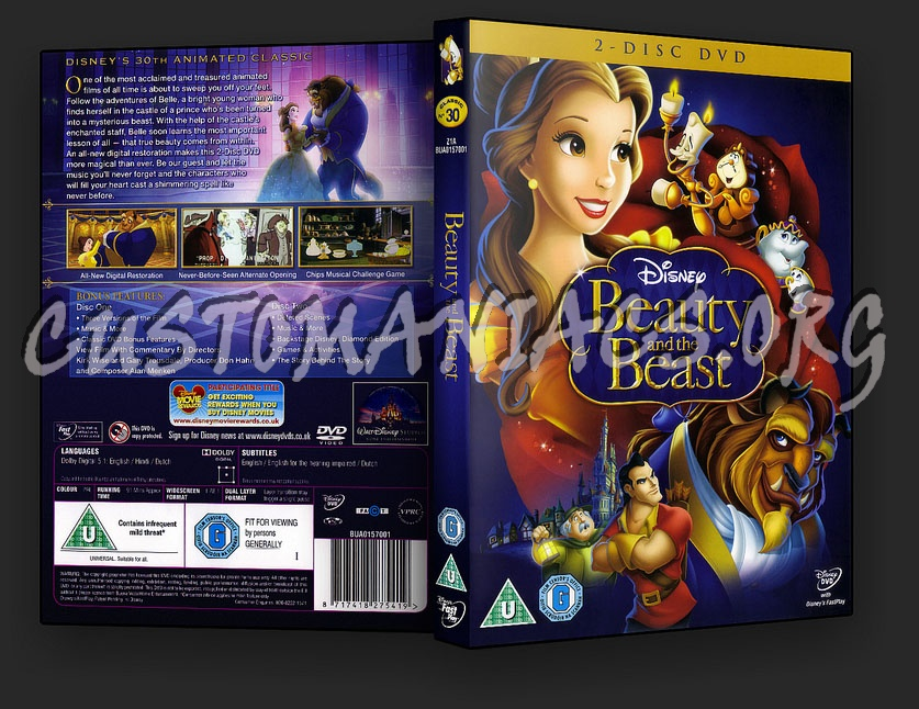 Beauty and the beast diamond edition on blu-ray and dvd combo pack.
