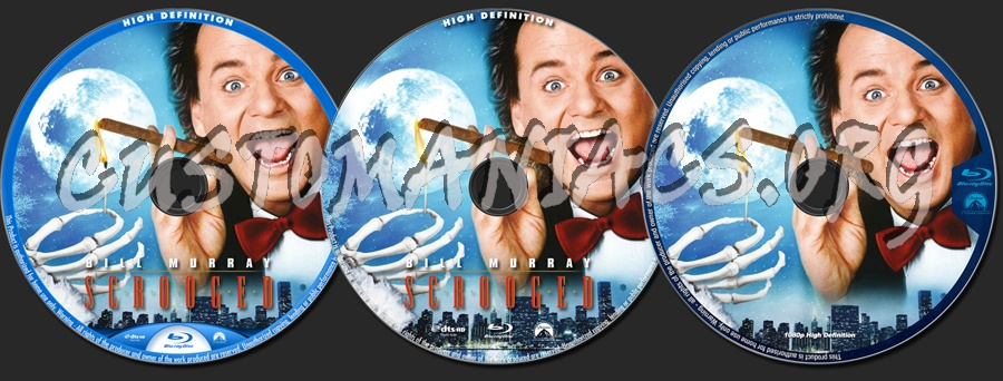 Scrooged blu-ray label
