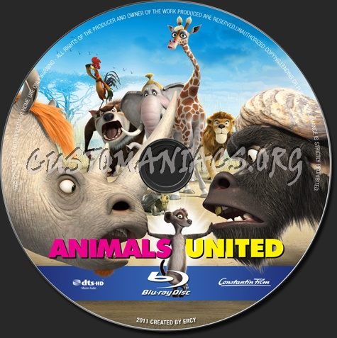 Animals United blu-ray label