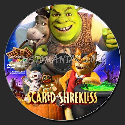 Scared Shrekless dvd label